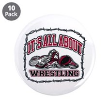 "All About Wrestling 3.5"" Button (10 pack)"