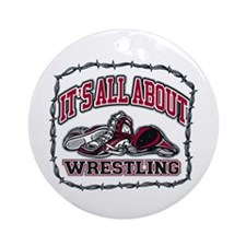 All About Wrestling Ornament (Round)