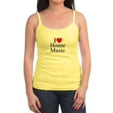 """I Love (Heart) House Music"" Jr.Spaghetti Strap"