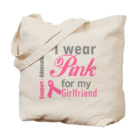 I Wear Pink For My Girlfriend Tote Bag