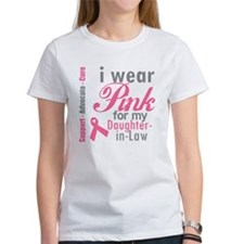 I Wear Pink Daughter-in-Law Tee