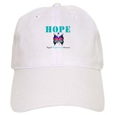 HopeButterfly ThyroidCancer Baseball Cap