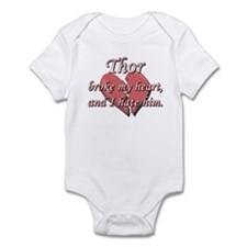 Thor broke my heart and I hate him Infant Bodysuit
