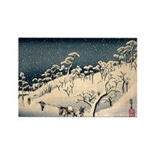 Japanese woodblock Rectangle Magnet