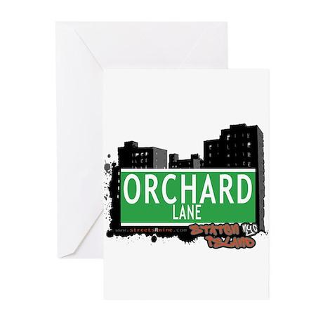 ORCHARD LANE, STATEN ISLAND, NYC Greeting Cards (P