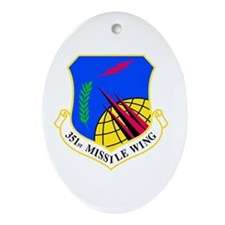 351st Oval Ornament