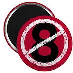 Overturn 8 Round Magnet