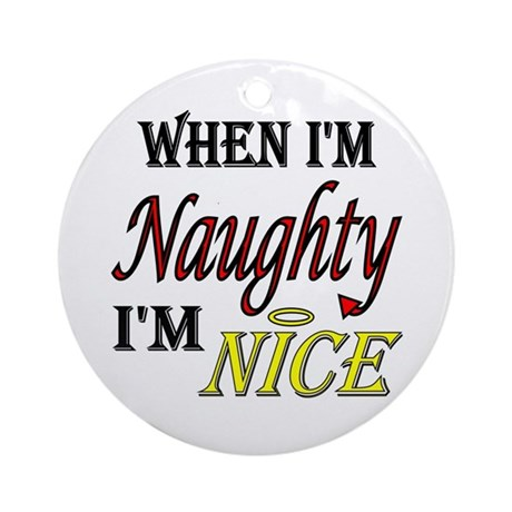 Naughty or Nice Christmas Ornament (Round)
