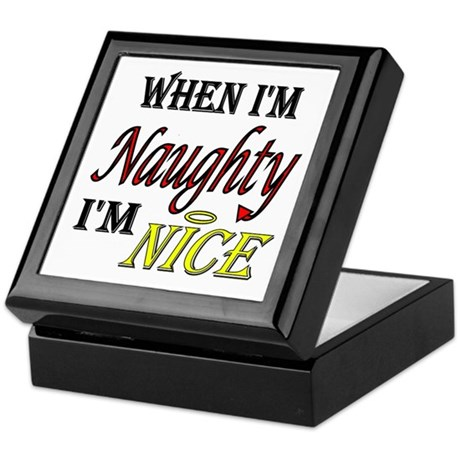 Naughty AND Nice Keepsake Box