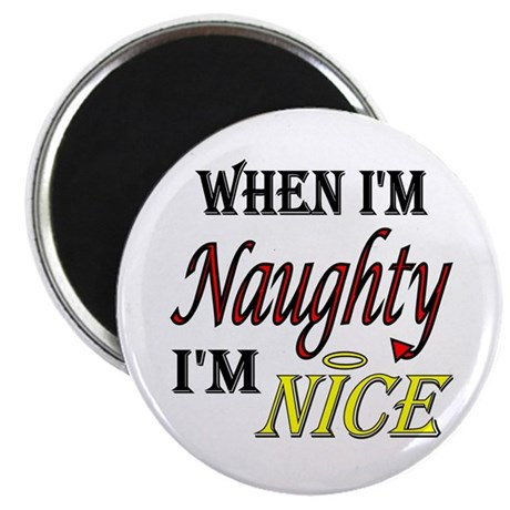 Naughty AND Nice 2.25&quot; Magnet (10 pack)