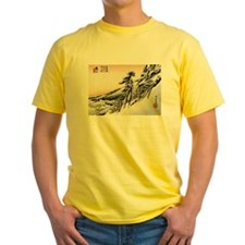 Funny Japanese woodblock T