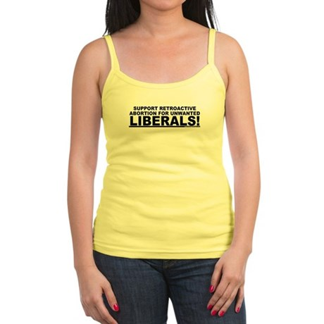 Retroactive Abortion For Libe Jr. Spaghetti Tank