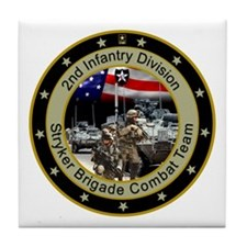 Stryker Brigade 2nd Infantry Tile Coaster