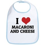 I Love Macaroni And Cheese Bib