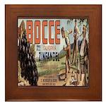 Bocce Framed Tile