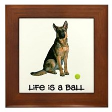 German Shepherd Life Framed Tile