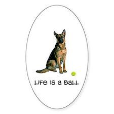 German Shepherd Life Oval Sticker
