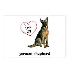 German Shepherd Lover Postcards (Package of 8)