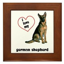 German Shepherd Lover Framed Tile
