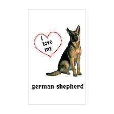 German Shepherd Lover Rectangle Sticker