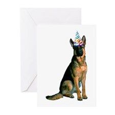 German Shepherd Party Greeting Cards (Pk of 20)