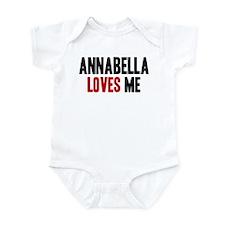 Annabella loves me Infant Bodysuit