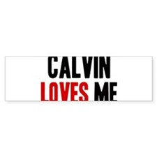 Calvin loves me Bumper Bumper Sticker