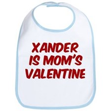 Xanders is moms valentine Bib