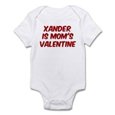 Xanders is moms valentine Infant Bodysuit