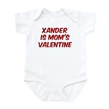 Xanders is moms valentine Infant Bodysuit
