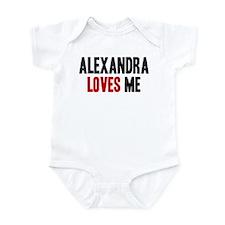 Alexandra loves me Infant Bodysuit