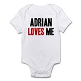 Adrian loves me Infant Bodysuit