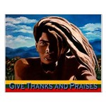 Give Thanks and Praises Rastafarian Small Poster