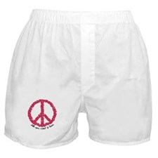 Hearts Peace Sign Boxer Shorts