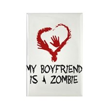 Zombie Romance Rectangle Magnet
