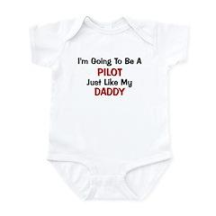Pilot Daddy Profession Infant Bodysuit