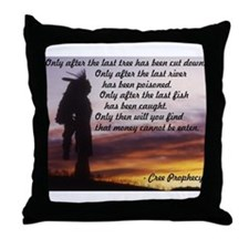 Native Prophecy - Environment Throw Pillow