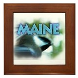 Maine Chickadee Framed Tile