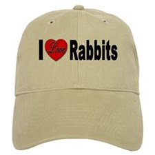 I love Rabbits for Rabbit Lov Baseball Cap