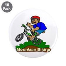 "Mountain Biking 3.5"" Button (10 pack)"