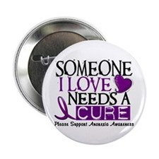 "Needs A Cure ANOREXIA 2.25"" Button (10 pack)"