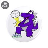 "Volleyball 3.5"" Button (10 pack)"