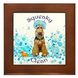 Welsh Terrier Bubble Bath Framed Tile