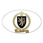 FRIOLET Family Crest Oval Sticker (10 pk)