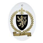 FRIOLET Family Crest Oval Ornament