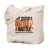 My Battle Too (Sister) Orange Tote Bag