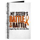 My Battle Too (Sister) Orange Journal