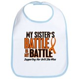 My Battle Too (Sister) Orange Bib
