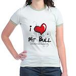 I Luv My Pit Bull Jr. Ringer T-Shirt