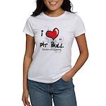 I Luv My Pit Bull Women's T-Shirt